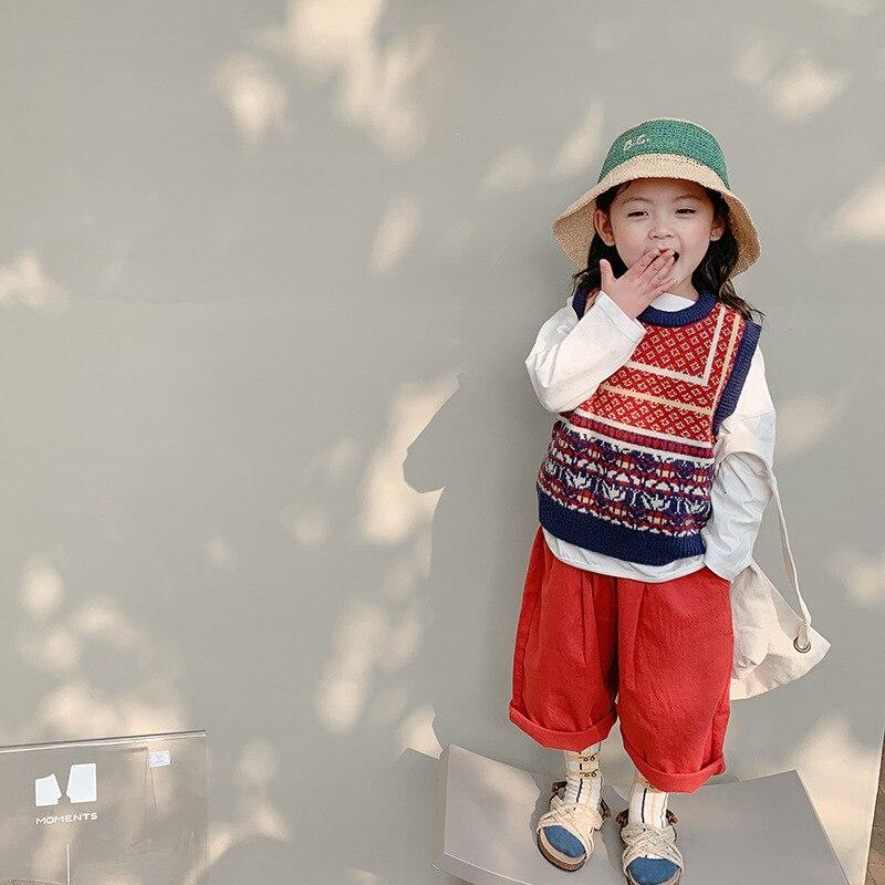 Sarouel pour filles au printemps 2021 vêtements bébé cloche fonds cloche bas pantalon coréen bébé vêtements pantalon Cargo pantalon