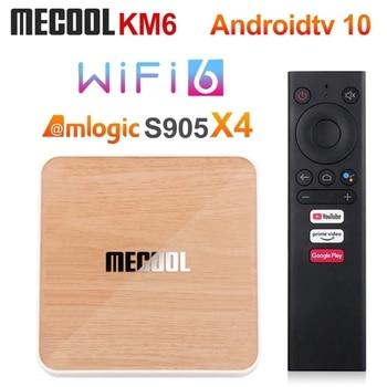 Mecool KM6 ATV Amlogic S905X4 TV Box Android 10 4GB 64GB Wifi 6 BT5.0 Google Certified Support AV1 USB3.0 1000M Set Top Box Electronics Android Tv
