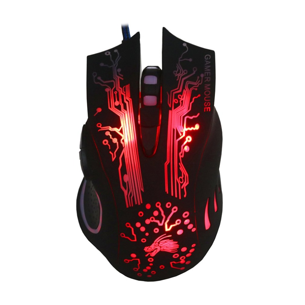 Professional K11 Wired Gaming Mouse 7 Button 2500dpi LED Optical USB Backlight Computer Mouse Gamer Mice Game Mouse