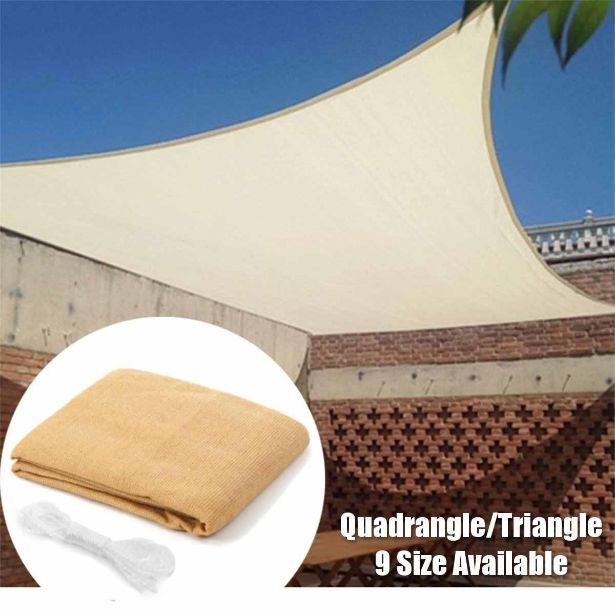 Protector solar impermeable triángulo Quadrangle protección solar toldo exterior jardín Patio piscina sombra vela toldo Camping 9 tamaño