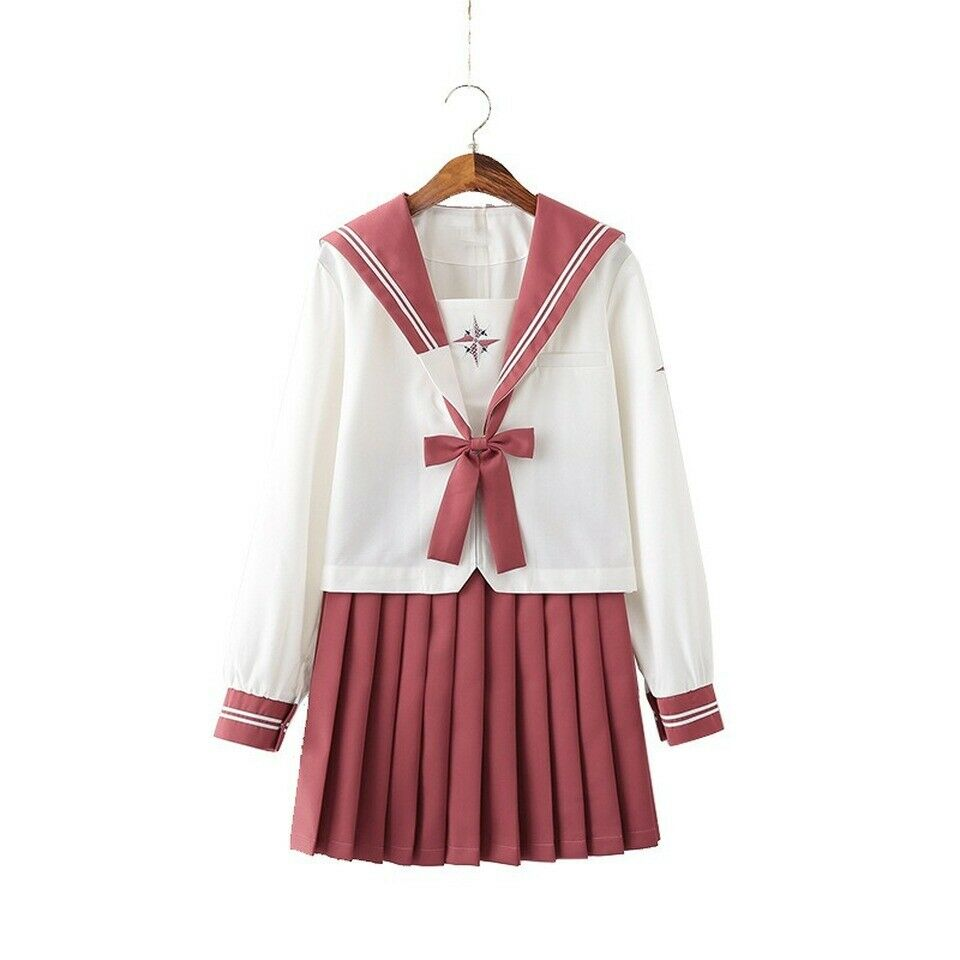 Japanese JK Uniform Sailor Suit Long Sleeve Student School Uniform
