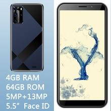 8a pro frente/câmera traseira 5mp + 13mp smartphones face id original 5.5