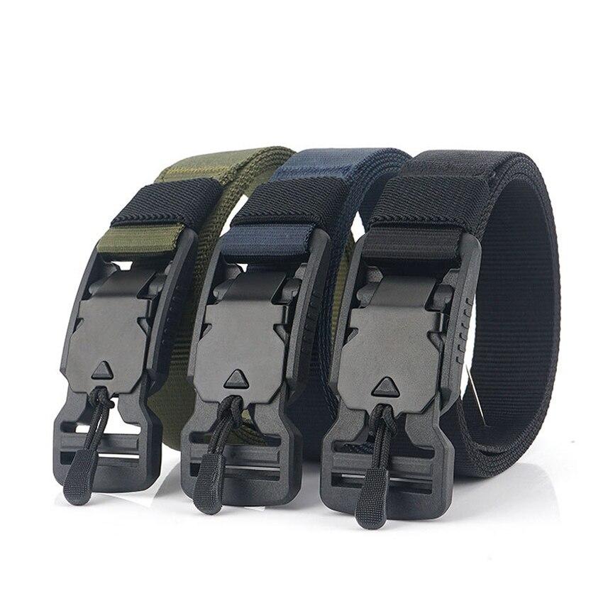 2.5cm Width Light Belt For Men Magnetic Buckle Jeans Belt Thin Wearable Nylon Tactical Belt Casual Male Trousers Designer Belt