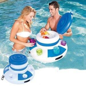 Надувное водное ведро для льда, поставщик пивных напитков, поплавок для бассейна, поплавок для взрослых, плот, плавающее кольцо, летняя вода,...