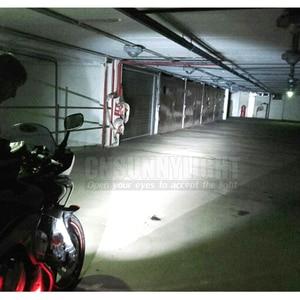Image 3 - CNSUNNYLIGHT אופנוע LED פנס זרקור 18W 2700Lm סופר בהיר לבן Moto ערפל DRL פנס ציד הנהיגה