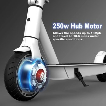 """Hiboy S2 Lite Electric Scooter 6.5"""" Solid Tires 10.6 Miles Long Range 13 MPH Folding Kick-Start Boost Scooters for Teens Adults 2"""