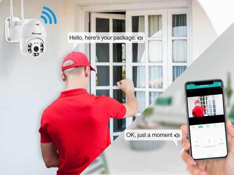 Caméra de surveillance audio bidirectionnelle à 5MP WIFI
