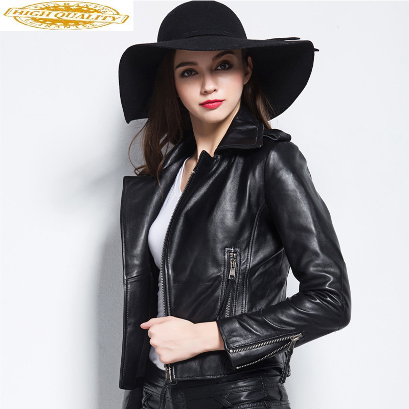 Real Leather Jacket Woman Spring 2020 Sheepskin Coat Female Jacket Women Vintage Biker Jackets Plus Size Chaqueta Mujer MY2504