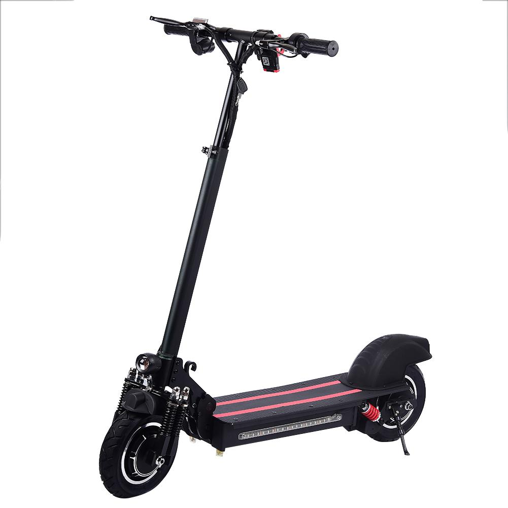 1200W 10 Inch Double drive Household Electric Scooter 2019 Hydraulic Suspension Foldable Electric Scootor With Turbine Motor|Electric Scooters| |  - title=