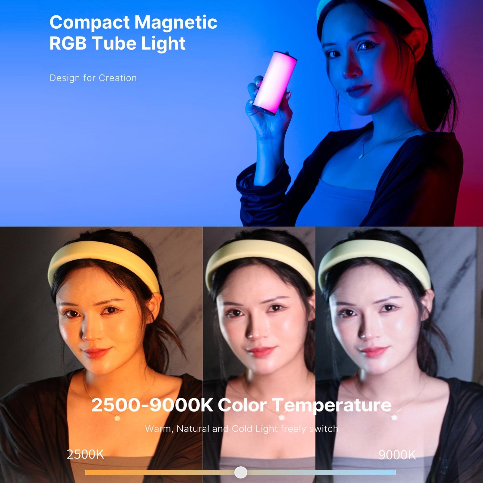 Ulanzi Compact Magnetic RGB Tube Light 7