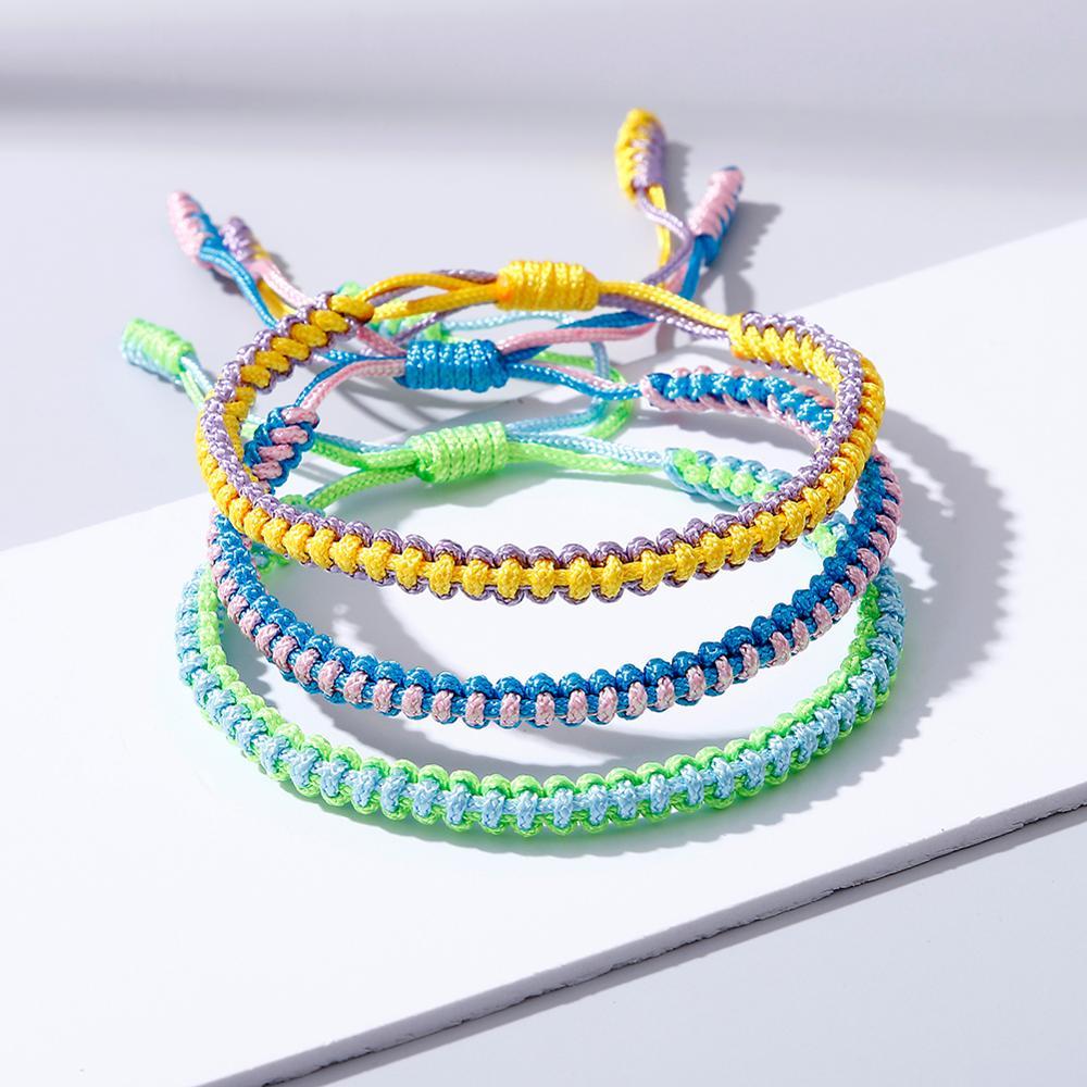 Lovers Couple Braided Bracelet Thread Knots Woven Rope Bracelets & Bangles Handmade String Wristband Friendship Fashion Jewelry