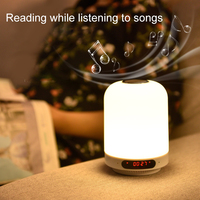 Multi functional Bluetooth Speaker FM Radio Charging Bedside Night Light Support AUX NK Shopping