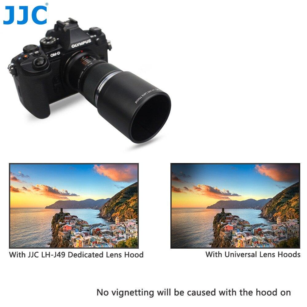 LH-49 JJC Lens hood Shade for Olympus M.ZUIKO DIGITAL ED 60mm F 2.8 Macro Lens