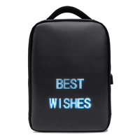 Laptop Backpack Smart LED Screen Display Outdoor Advertising Back Pack Bag Business Casual Travel Waterproof Laptop Accessory
