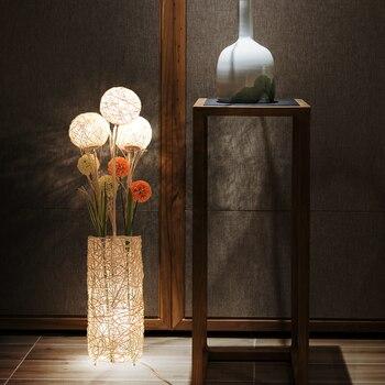 Japanese Yamato style LED Floor lamp bedroom tatami study room rattan Modern floor 90-260V