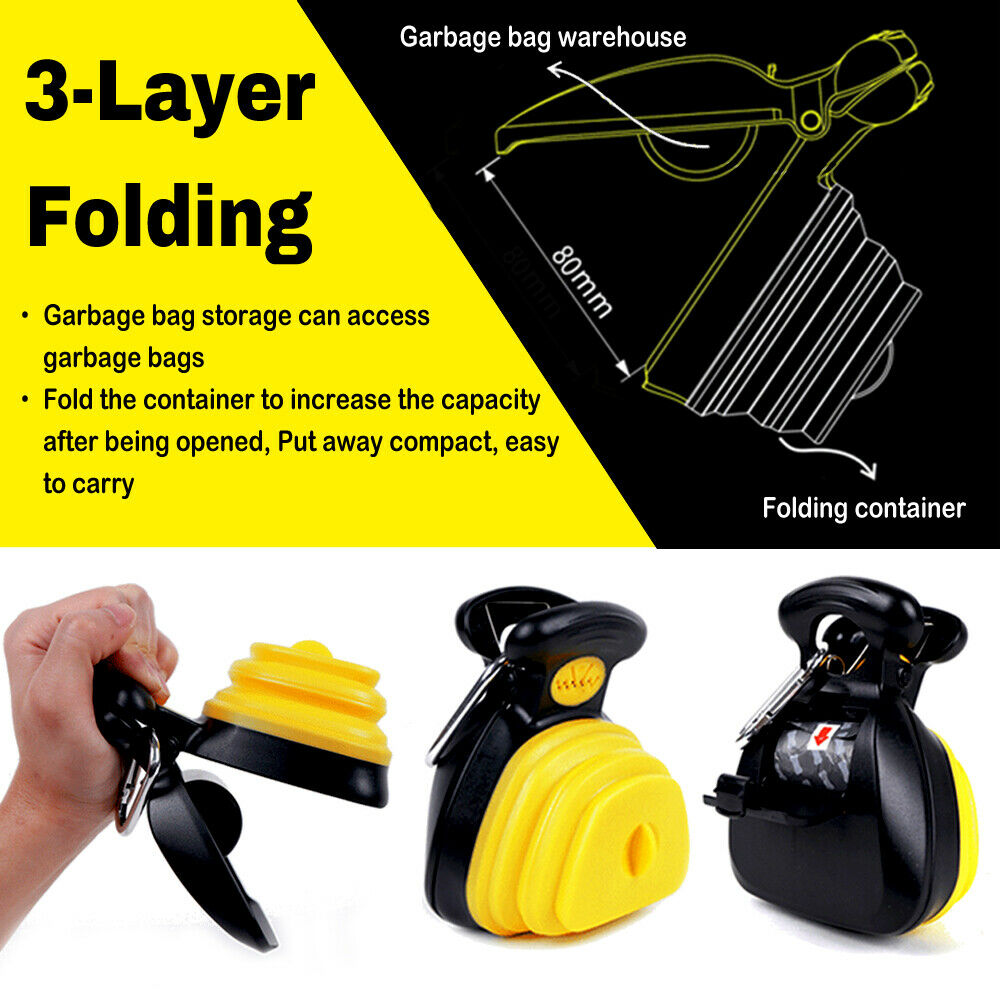 Pet Dog Travel Foldable Pooper Scooper With 1 Roll Decomposable bags Poop Scoop Clean Pick Up Excreta Cleaner|Pooper Scoopers & Bags| - AliExpress