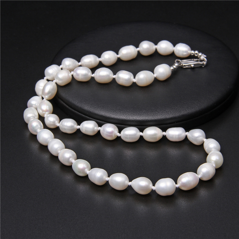 Real White Baroque Pearls Beaded Chockers Elegant Classic Natural Pearls Necklaces Chains Fine Jewelry For Women Wedding Gifts
