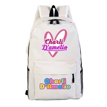 School Bags for Teenage Girls Charli Damelio Backpack Women Mochilas Escolares Bookbag Laptop Back Pack Men Kawaii Backpack Kids 13