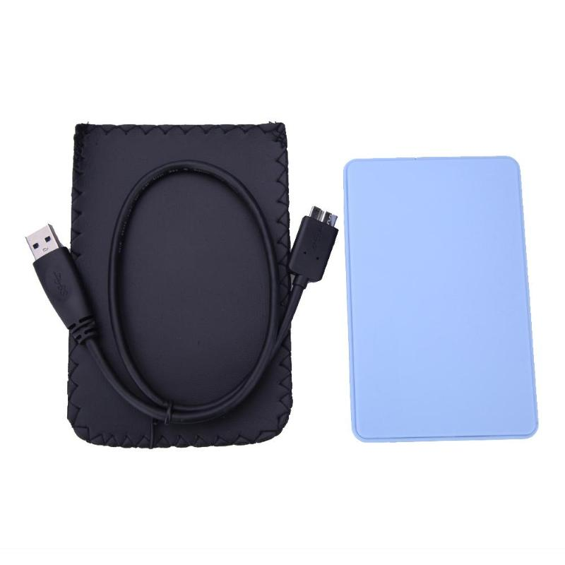2.5 Inch Notebook SATA HDD Case USB 3.0 To SATA Hd Box HDD Hard Drive External Enclosure Box Support 2TB With USB Cable
