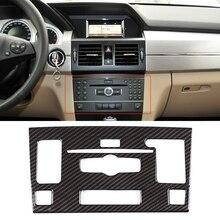 JEAZEA Car Styling konsola środkowa moduł CD rama naklejka dekoracyjna tapicerka do Mercedes Benz GLK 2010 2012 akcesorium samochodowe