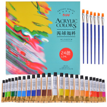 Professional Acrylic Paint Set 12/18/24 Colors 12ml Tubes Drawing Painting Pigment Used in Arts and Crafts