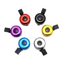 Para la seguridad del manillar de la bicicleta anillo de Metal negro bicicleta campana cuerno sonido alarma bicicleta accesorio exterior anillos de campana de protección