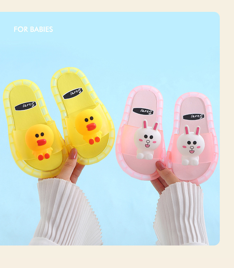 2020 Light Up Slippers Children LED  Kids Slippers Baby Bathroom Sandals  Kids Shoes for Girl  Boys Flip Flops  Toddler