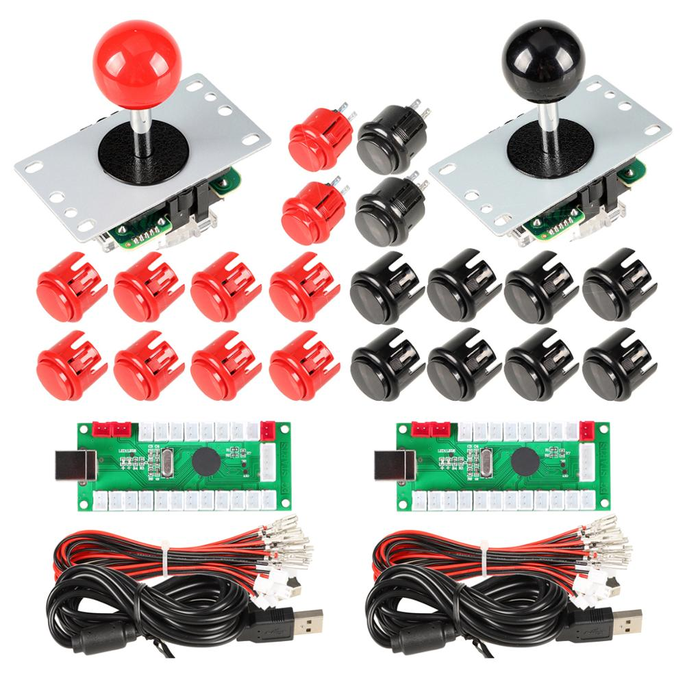 2 Player Arcade DIY Kit USB Encoder to PC Joystick + Arcade Buttons for Arcade Raspberry Pi Joystick Video Games Parts