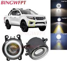 2x High power H11 LED Fog Lamps Angel Eye light with Glass len 12V For Nissan Navara Note Pathfinder Pixo Armada Interstar