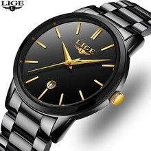 2019 Fashion LIGE Mens Watches Men Casual Sport Waterproof Watch Top Brand Luxury Chronograph Quartz Clock Relogio Masculino+Box