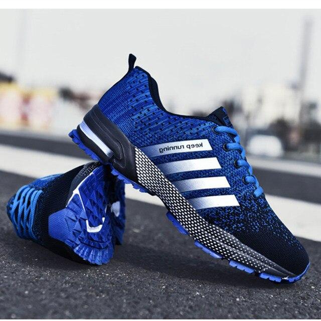 Uberu baskets de Tennis pour hommes, chaussures dextérieur en maille, confortables, antidérapantes, résistantes à lusure, grande taille 48, chaussures de course décontractées