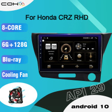 COHO For Honda CR-Z/CRZ RHD Android 10.0 Octa Core 6+128G Central Multimidia Video Android