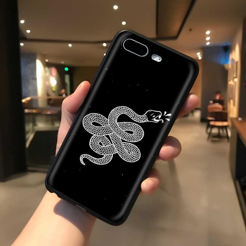 Yimaoc cobras e flores silicone macio caso para iphone 11 pro xs max xr x 8 7 6 s plus 5 5S se