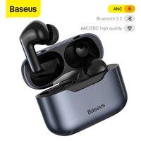 Baseus S1 Pro ANC Tai Nghe Chụp Tai Bluetooth Thật 5.2 Tai Nghe Không Dây Hoạt Động Loại Bỏ Tiếng Ồn TWS Tai Nghe Nhét Tai Âm Thanh HiFi Tai Nghe Chơi Game