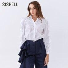 Женская блузка с оборками sispell свободная рубашка отложным
