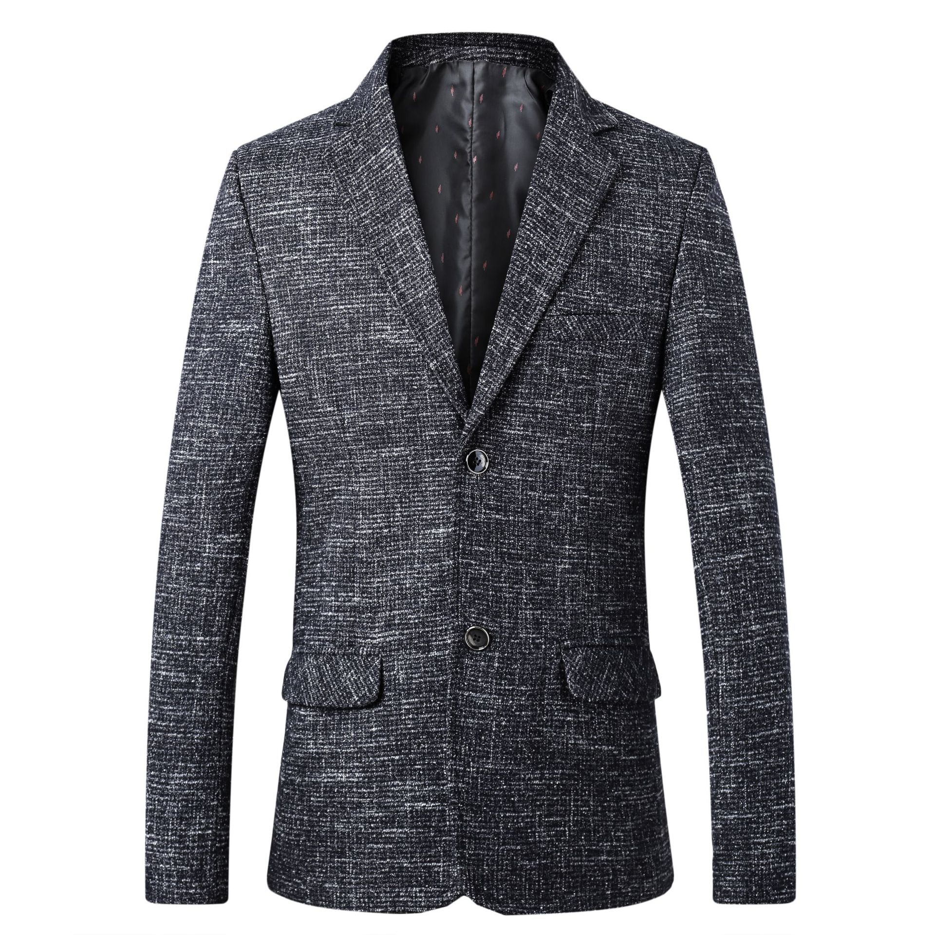 The New Men's 2019 Youth Fall Double Single Suit Suit Leisure Suit