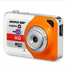 X6 portátil ultra mini hd alta denifition câmera digital mini dv suporte 32gb tf cartão com mic usb flash drive para câmera