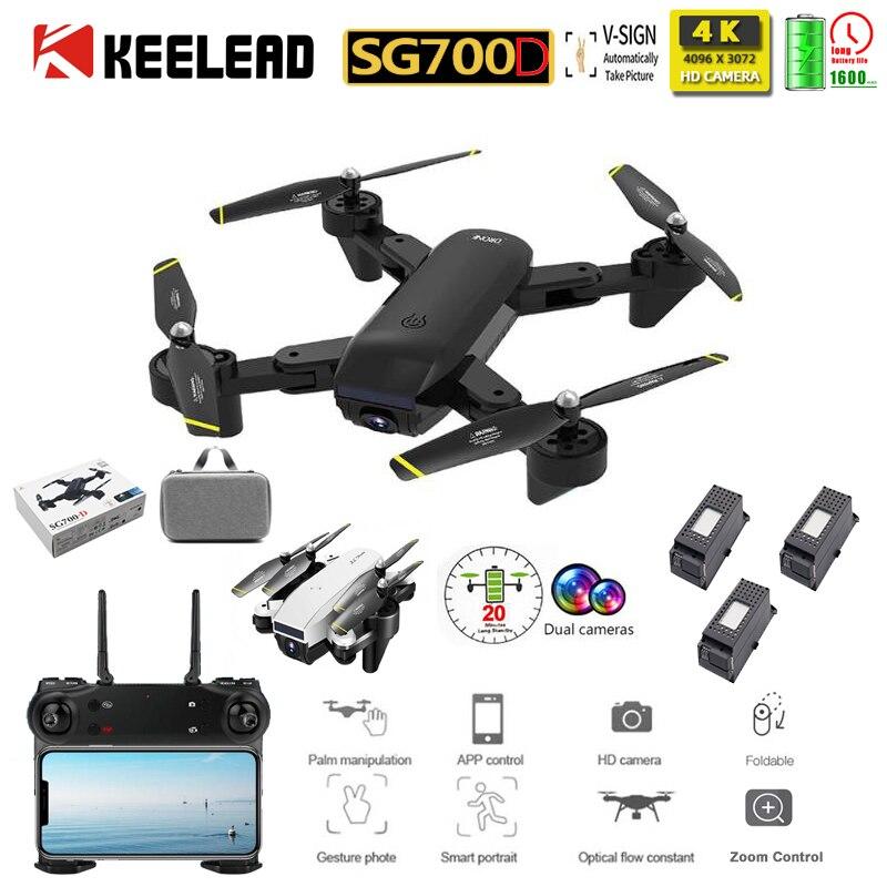 SG700D Drone Profissional Zoom Control 4K Wide-Angle Camera Drone WIFI 1080P Dual Camera RC Quadrocopter Foldable Dron VS M69G