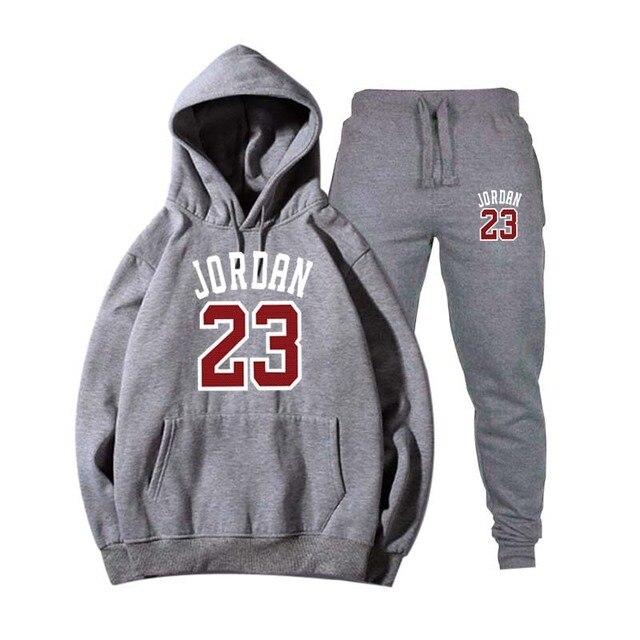Nouveau 2018 flambant neuf mode JORDAN 23 hommes vêtements de sport imprimer hommes sweats à capuche pull Hip Hop hommes survêtement sweat-shirts vêtements 3