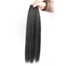 Kinky Straight Synthetic Weave Bundles Hair Blonde 613 Synthetic Bundles Hair Extensions
