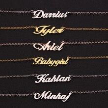 Женское ожерелье с подвеской на заказ, нержавеющая сталь, гравировка короны, Звёздные названия, буквы, ожерелья и подвески, подарок для друзей