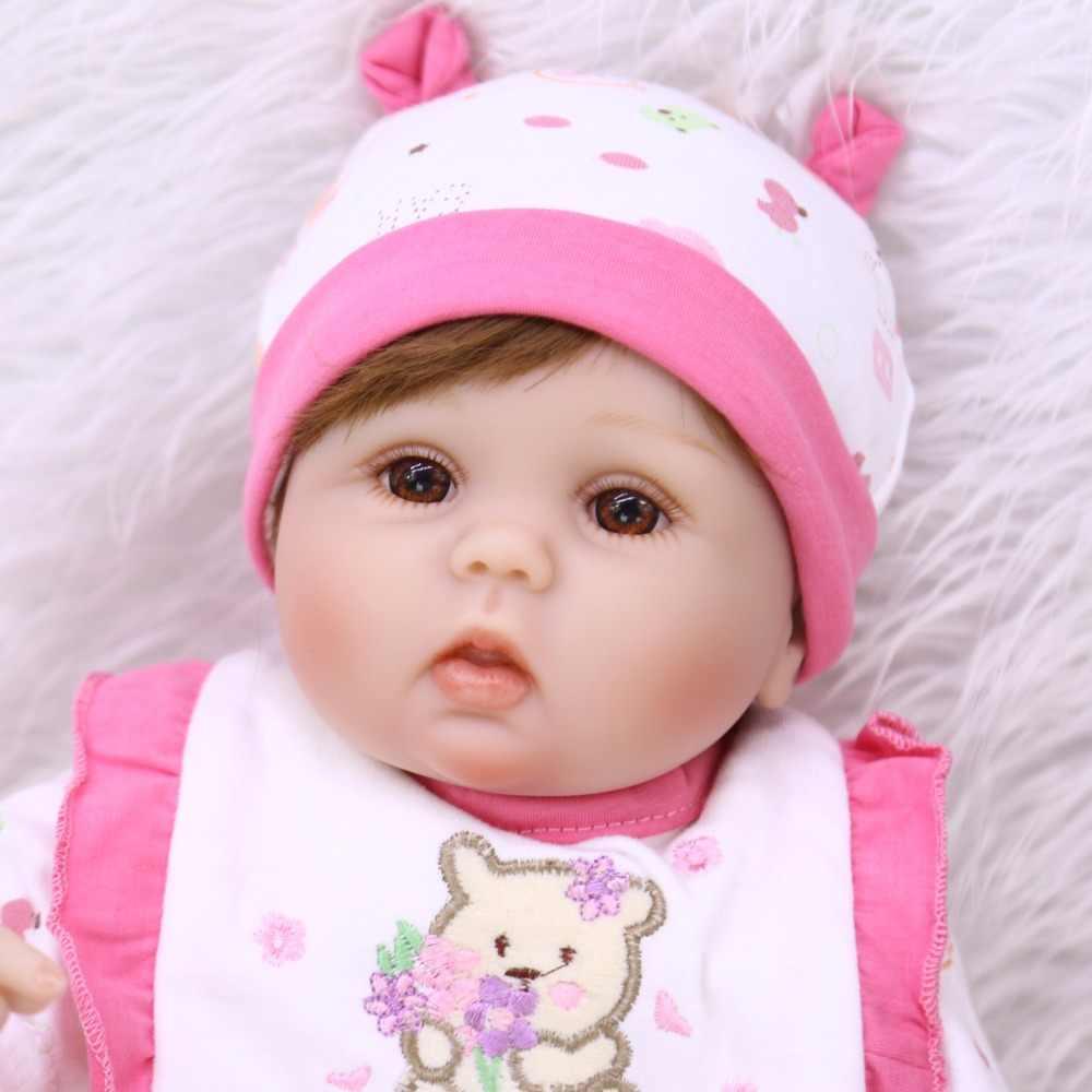 42cm Molle Del Silicone Del Bambino Rinato Bambole Della Ragazza Realistico Neonato Baby Doll Reborn Bambino bebe Regalo Di Compleanno