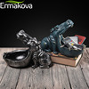 ERMAKOVA Resin Hippo Statue Hippopotamus Sculpture Figurine Key Candy Container Decoration Home Table Decoration Accessories 2