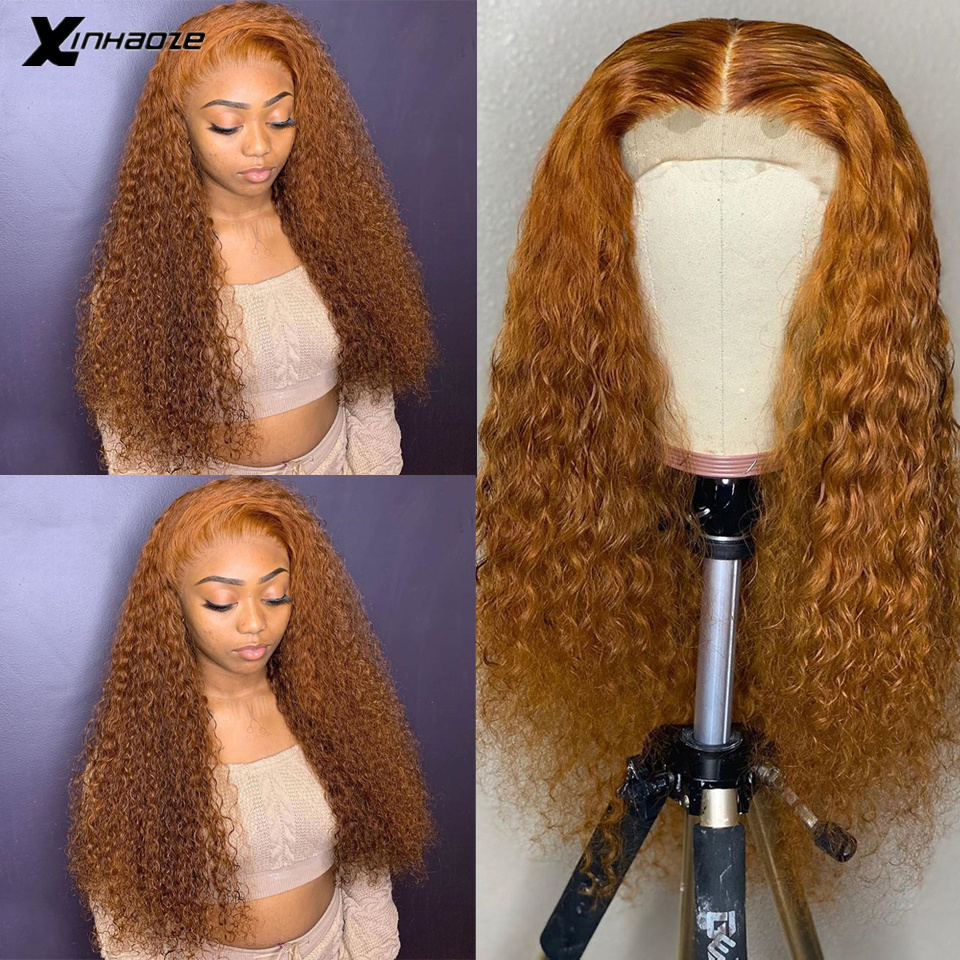 Brazilian Wet Wavy Lace Front Human Hair Wigs Blonde Remy Hair Glueless PrePlucked Lace Front Wig Baby Hair