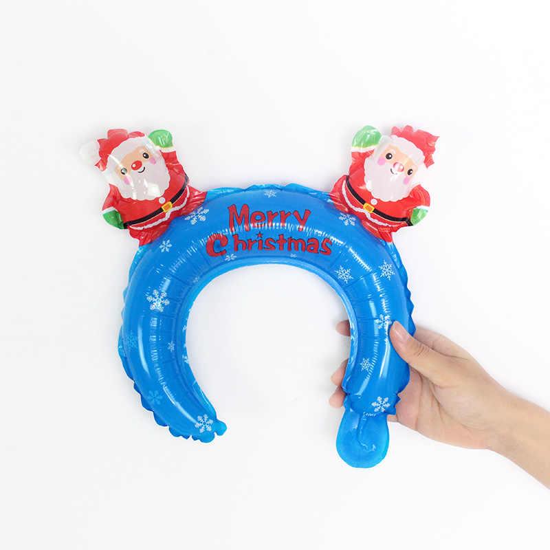 ใหม่ฮาโลวีนคริสต์มาส Hoop การ์ตูนอลูมิเนียมบอลลูนบอลลูน Holiday Party ของเล่นเด็ก Cosplay Headband บอลลูน