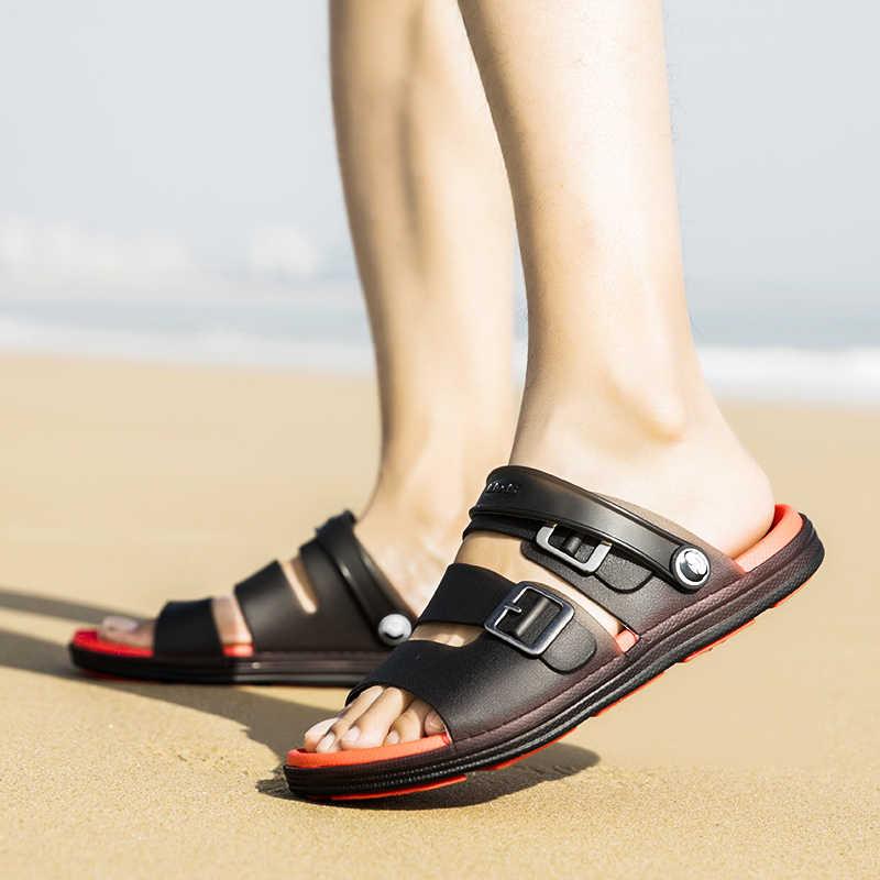 2020 รองเท้าแตะชายใหม่ฤดูร้อน Flip Flops รองเท้าแตะชายชายหาดรองเท้าสบายๆรองเท้าแตะชายรองเท้า Sandalia Masculina