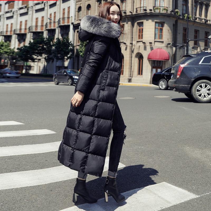 2019, плюс размер, белая куртка на утином пуху, мех енота, модная зимняя парка, длинная, толстая, теплая, гусиное перо, пальто, женская одежда, DD077 - 5