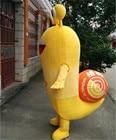 Yellow Snails Mascot...