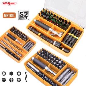 Hi-Spec набор многометаллических сверл Набор бит отвертки деревообрабатывающие сверла HSS набор сверл для дерева сталь пластик ударный драйвер