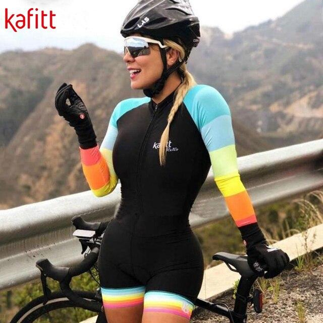 Equipe de Triathlon kafitt Radfahren jersey define Uniforme Anzug frauen Langarm Bademode Mujer Ropa ciclismo Skinsuit Geral Trisuit 6